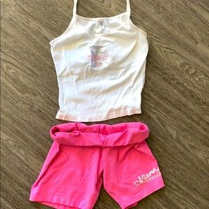 Two piece kiana camisole and shorts set worn once
